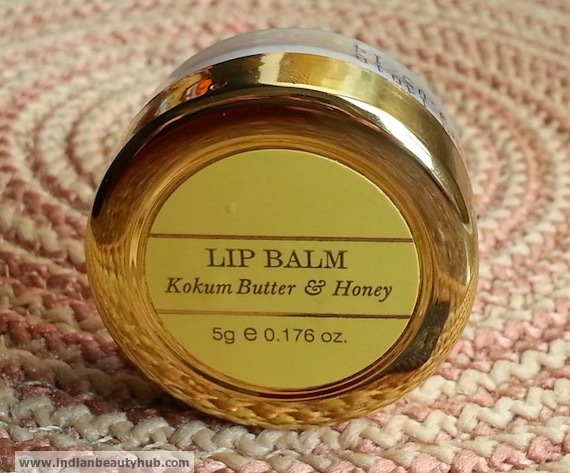Forest Essentials Kokum Butter & Honey Lip Balm Review 6