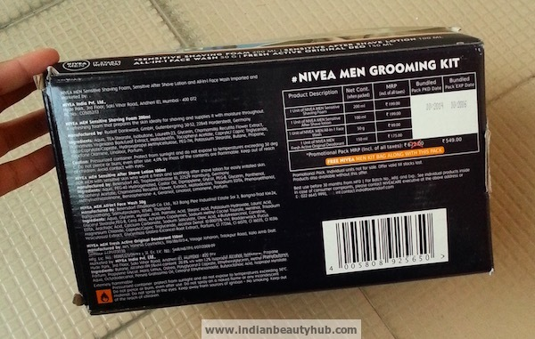Nivea Men Grooming Kit Review7