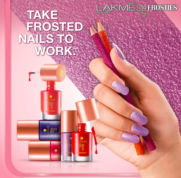 lakme 9-to-5 frosties nail enamel