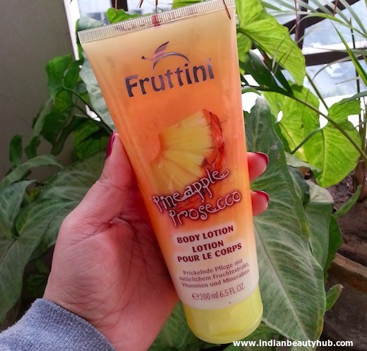 Fruttini Pineapple Prosecco Body Lotion Review 5