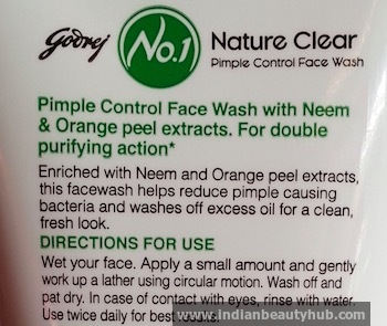 Godrej No.1 Neem Orange Peel Face Wash Review 2