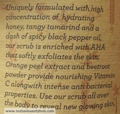 Jaypore Tamarind Honey Black Pepper Face Scrub Review 2