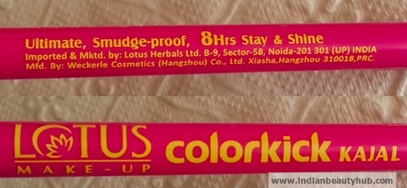 Lotus Herbals Colorkick Kajal Review, Swatch and Price 3