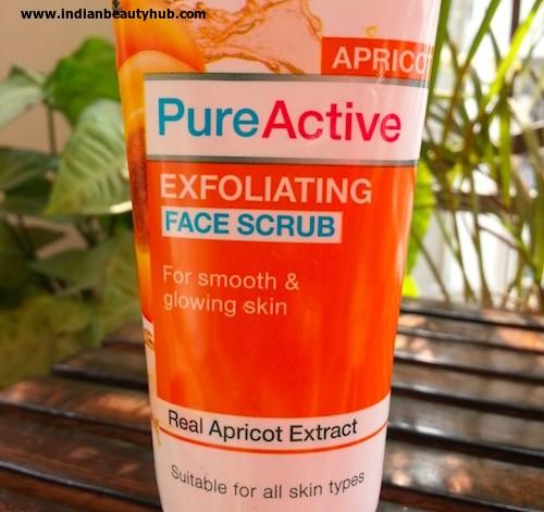 Garnier PureActive Apricot Exfoliating Face Scrub Review