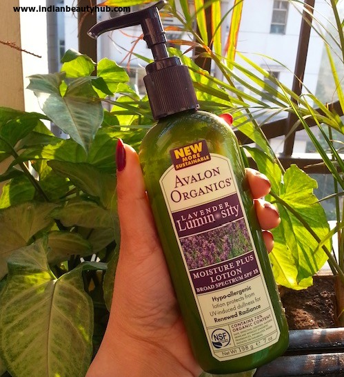 Avalon Organics Lavender Luminosity Moisture Plus Lotion Review