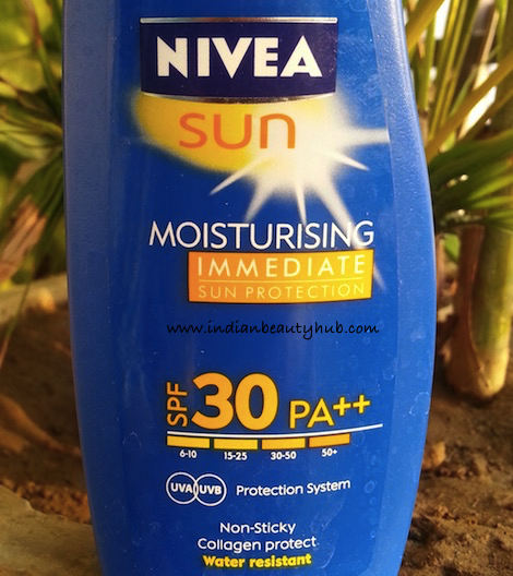 Nivea Sun Moisturising Immediate Sun Protection SPF 30 PA++ Review