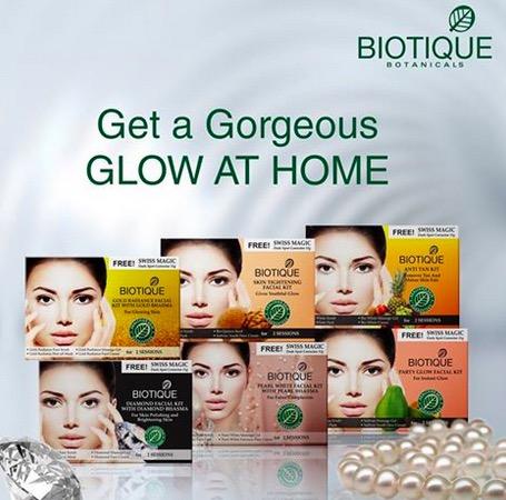 Biotique Anti Tan, Skin Tightening, Gold Radiance Facial Kit