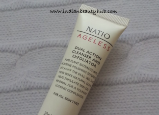 Natio Ageless Dual Action Cleanser and Exfoliator Review