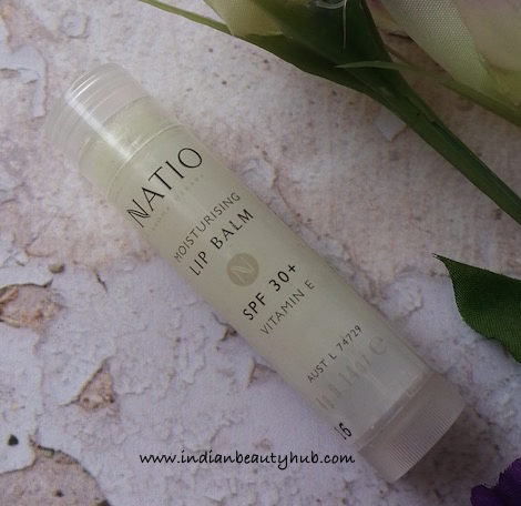 Natio Moisturising Lip Balm SPF 30+ Review