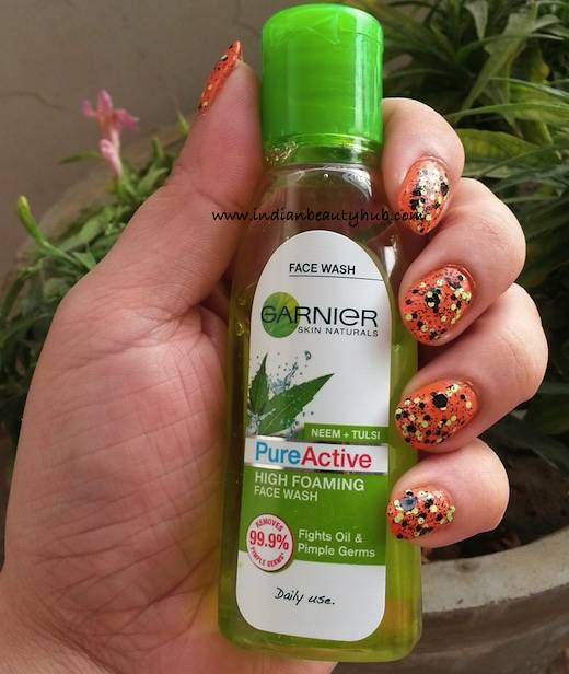 Garnier Pure Active Neem+Tulsi High Foaming Face Wash Review 1