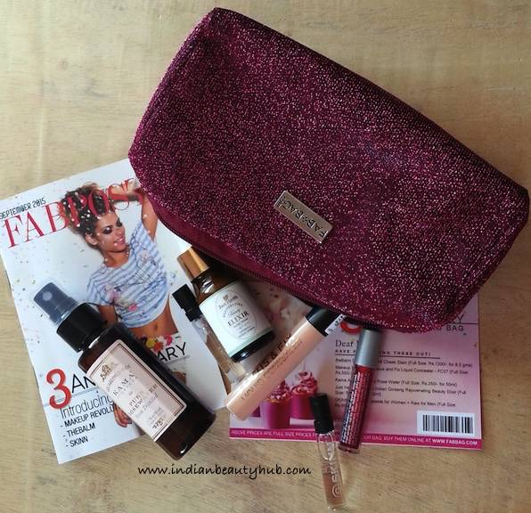 Fab Bag September 2015 Review12