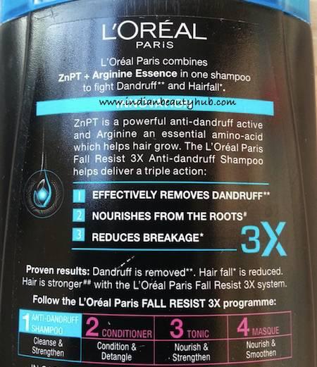 L'Oreal Paris Fall Resist 3X Anti-Dandruff Shampoo Review5