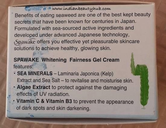 Spawake Whitening Fairness Gel Cream Review2