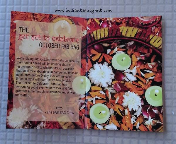 Fab Bag October 2015 Review