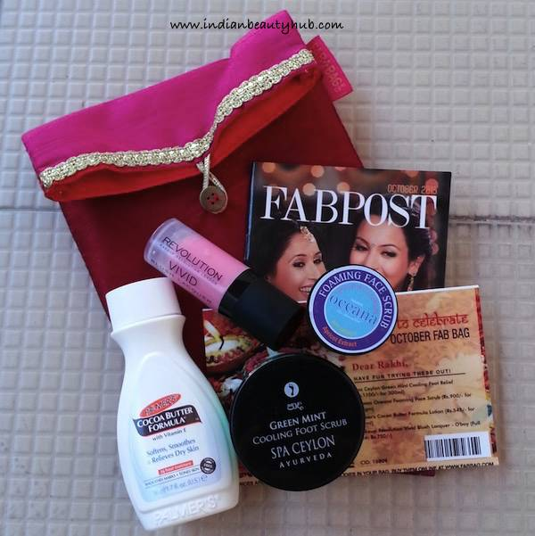 Fab Bag October 2015 Review5