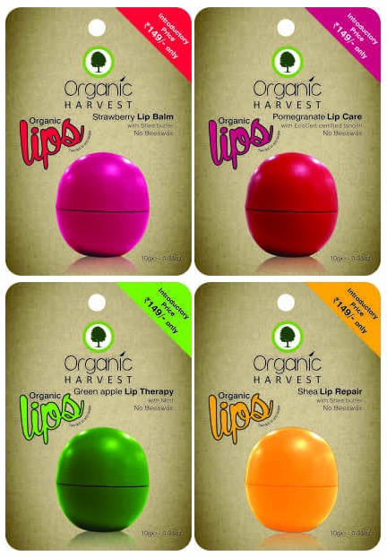 New Organic Harvest Organic Lips Lip Balms