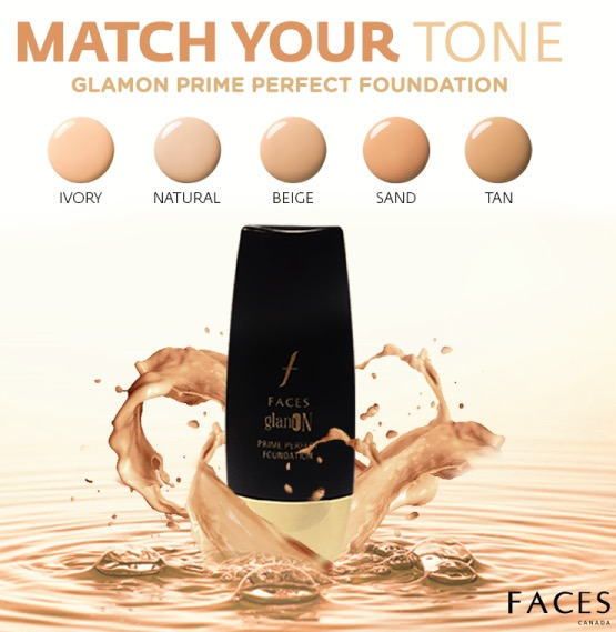 New FACES GlamOn Prime Perfect Foundation