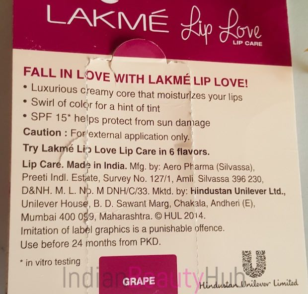 Lakme Lip Love Lip Care Grape Lip Balm Review_1