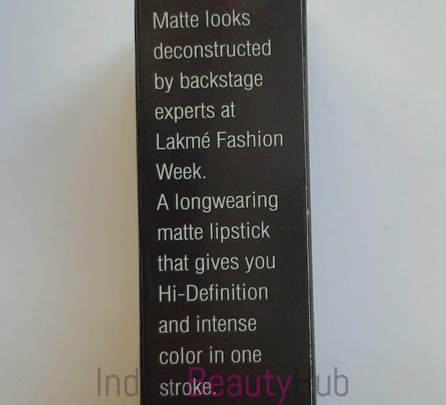 Lakme Absolute Sculpt Studio Hi-Definition Matte Lipstick Review_1