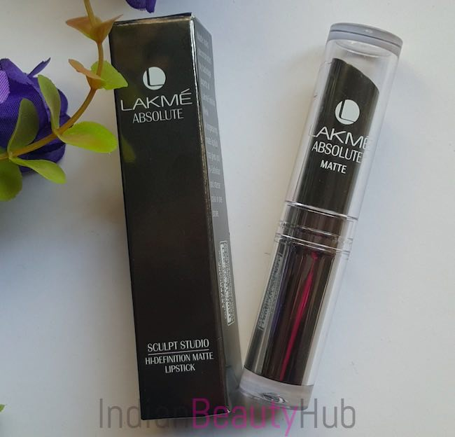 Lakme Absolute Sculpt Studio Hi-Definition Matte Lipstick Review_9