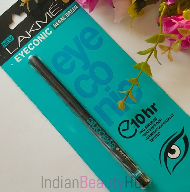 New Lakme Eyeconic Kajal Regal Green Review_6