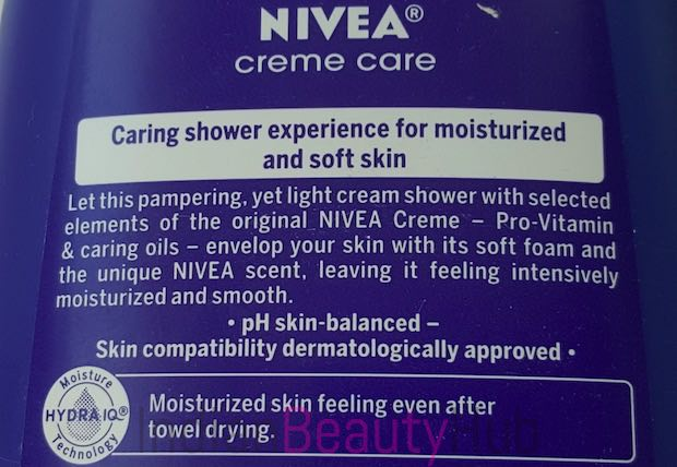 Nivea Creme Care Cream Shower Review