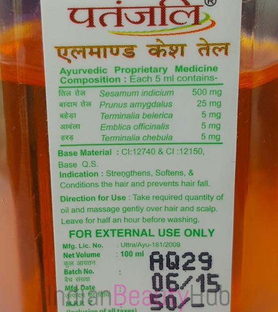 Patanjali Almond Hair Oil Review_2
