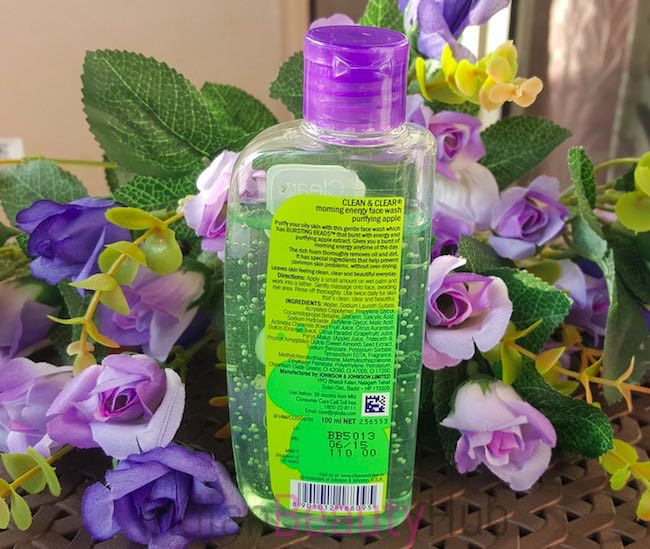 clean & clear morning energy purifying apple face wash review_0