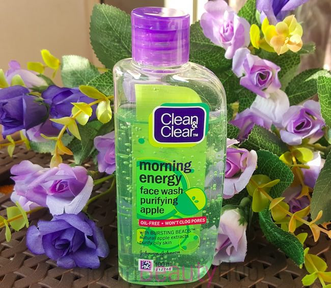 clean & clear morning energy purifying apple face wash review_1