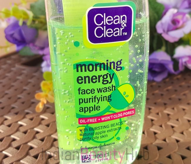 clean & clear morning energy purifying apple face wash review_4