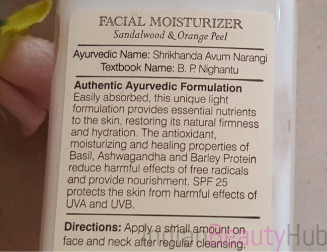 Forest Essentials Sandalwood & Orange Peel Facial Moisturizer_6