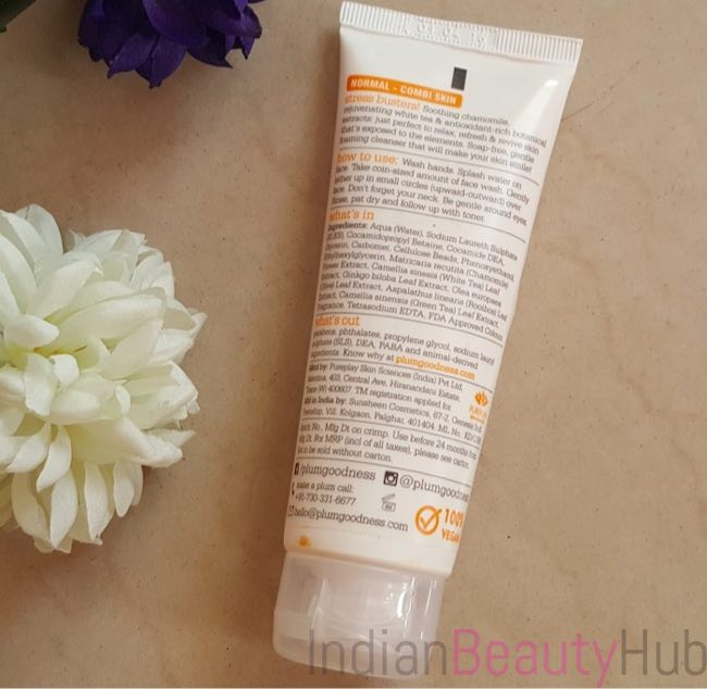 Plum Chamomile & White Tea Skin Revival Face Wash Review_9