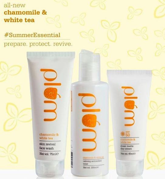 New! Plum Chamomile & White Tea Sun Protection Range