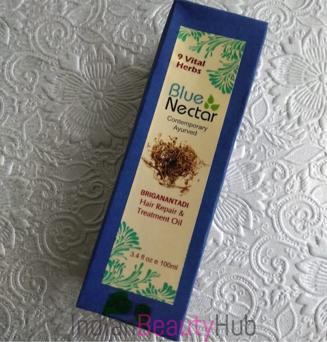 Blue Nectar Briganantadi Hair Repair & Treatment Oil Review_5