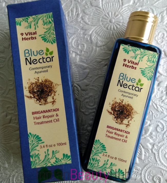 Blue Nectar Briganantadi Hair Repair & Treatment Oil Review_6