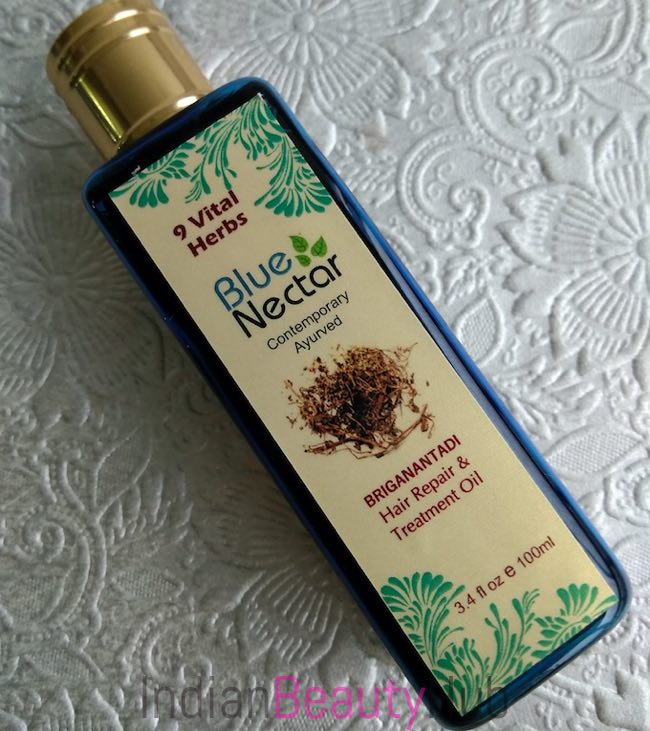 Blue Nectar Briganantadi Hair Repair & Treatment Oil Review_8