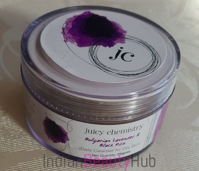 Juicy Chemistry Bulgarian Lavender & Black Rice Cleanser Review_5