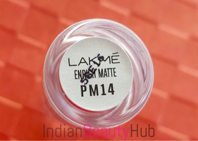New! Lakme Enrich Matte Lipstick PM14 Review & Swatches_2