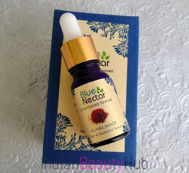 Blue Nectar Kumkumadi Radiance Glow Night Srum Review_0