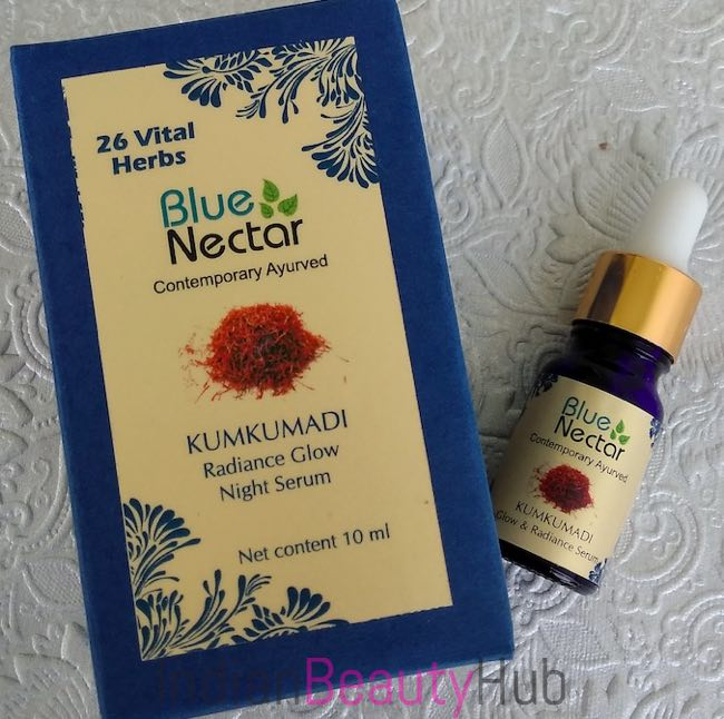 Blue Nectar Kumkumadi Radiance Glow Night Srum Review_1