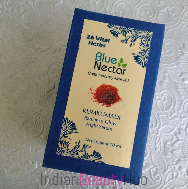 Blue Nectar Kumkumadi Radiance Glow Night Srum Review_2