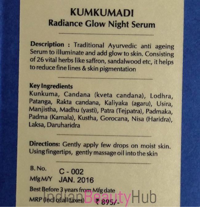 Blue Nectar Kumkumadi Radiance Glow Night Srum Review_8