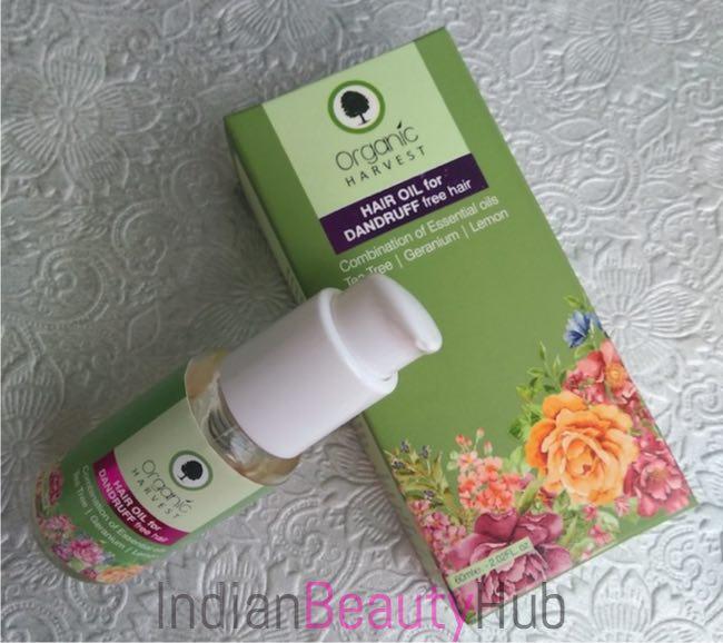 Organic Harvest Hair Oil for Dandruff Free Hair Review