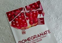 LomiLomi 7 Skin Scheduler Vital Mask Review - Pomegranate