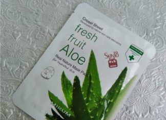 Mirum Crosel Sheet Fresh Fruit Aloe Real Nature Mask Pack Review
