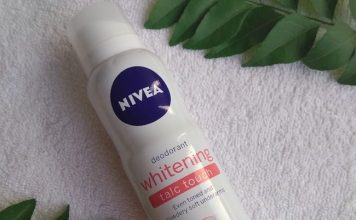 Nivea Whitening Talc Touch Deodorant Review