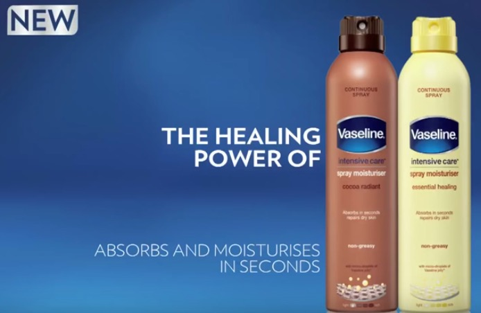 New! Vaseline Intensive Care Spray Moisturizers