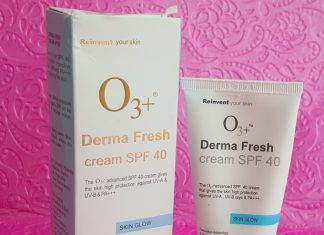 O3+ Derma Fresh Cream SPF40 Review