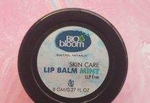 Bio Bloom Lip Balm Mint Review