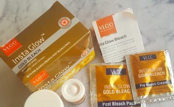 VLCC Insta Glow Gold Bleach Review